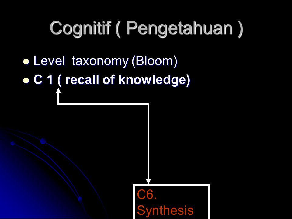 Cognitif ( Pengetahuan )