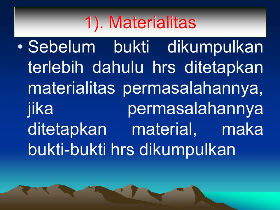 1). Materialitas