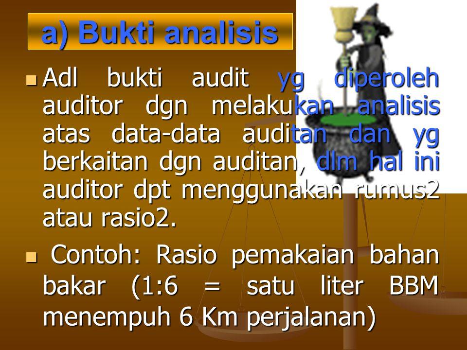 a) Bukti analisis