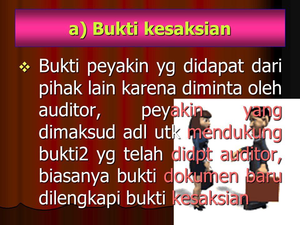 a) Bukti kesaksian