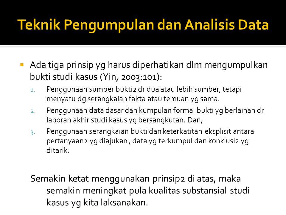 Teknik Pengumpulan dan Analisis Data