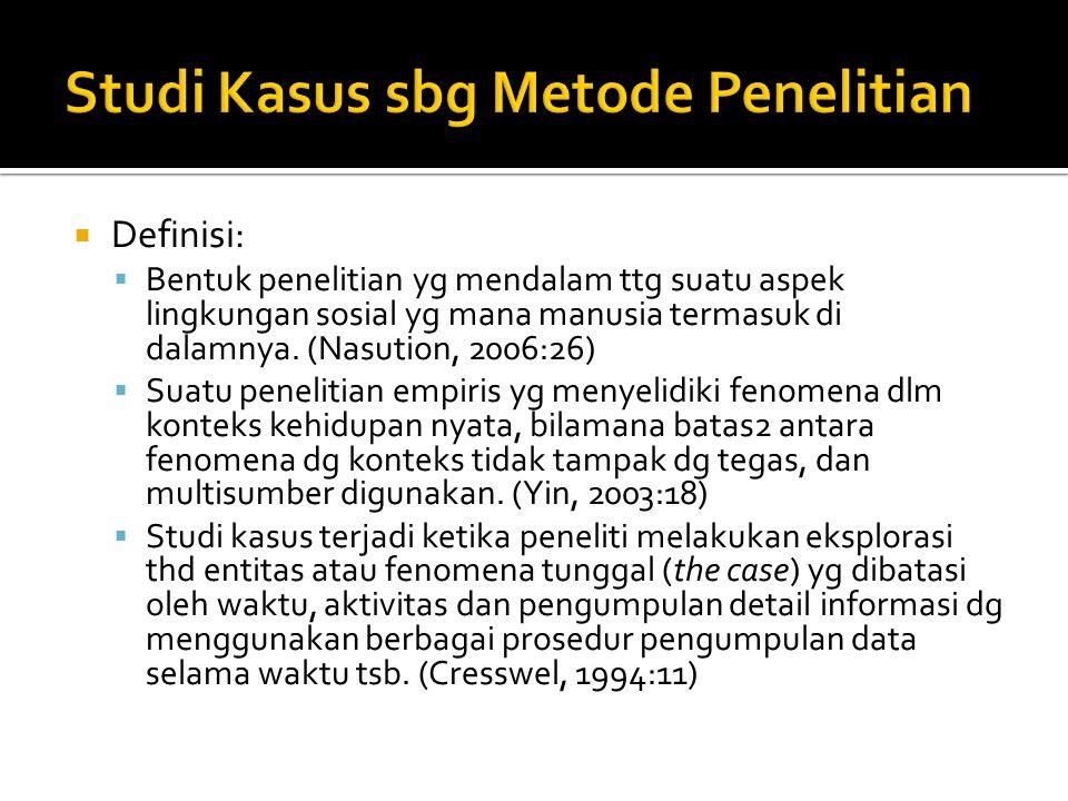 Studi Kasus sbg Metode Penelitian