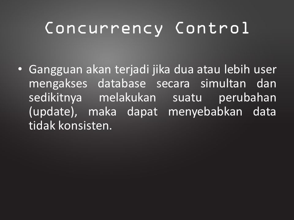 Concurrency Control