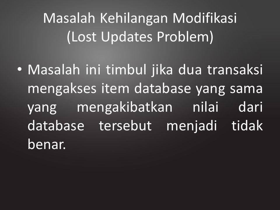 Masalah Kehilangan Modifikasi (Lost Updates Problem)