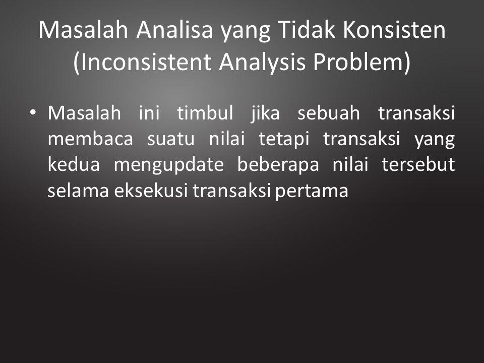 Masalah Analisa yang Tidak Konsisten (Inconsistent Analysis Problem)