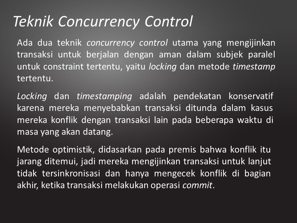 Teknik Concurrency Control