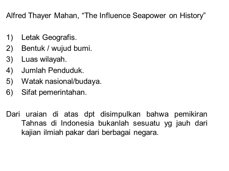 Alfred Thayer Mahan, The Influence Seapower on History