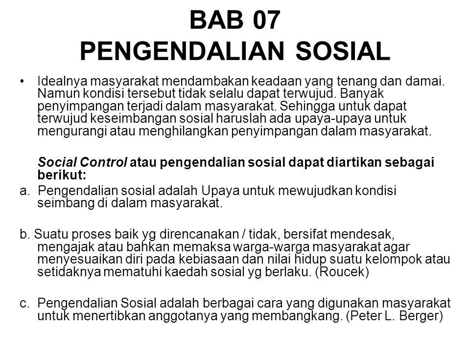 BAB 07 PENGENDALIAN SOSIAL