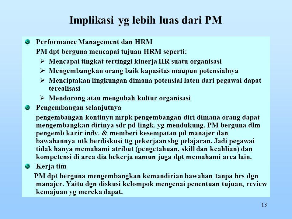 Implikasi yg lebih luas dari PM