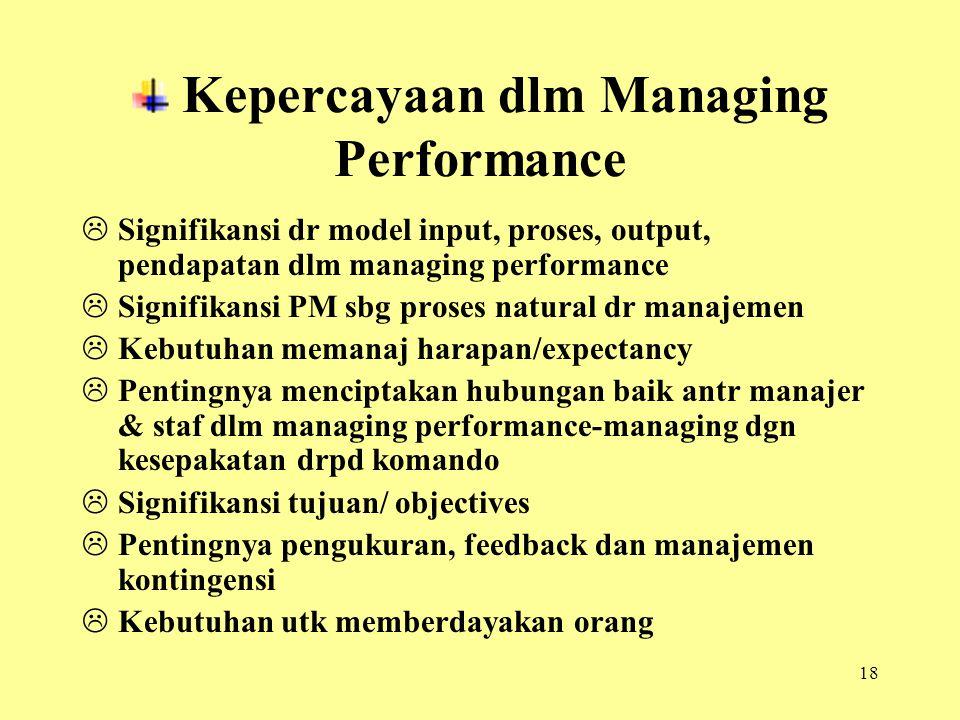 Kepercayaan dlm Managing Performance