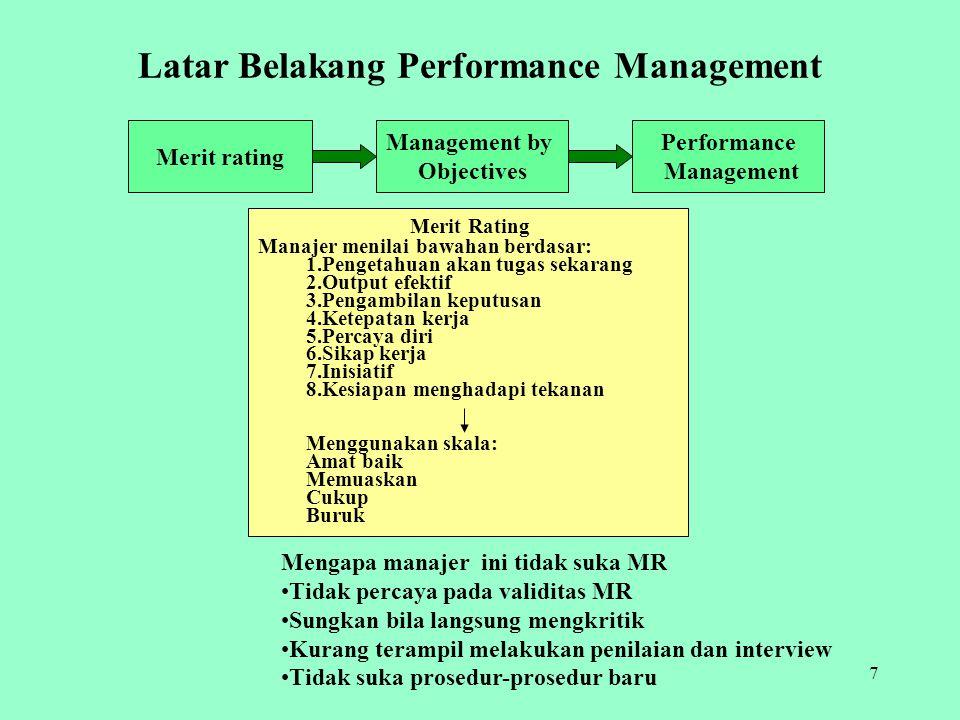 Latar Belakang Performance Management