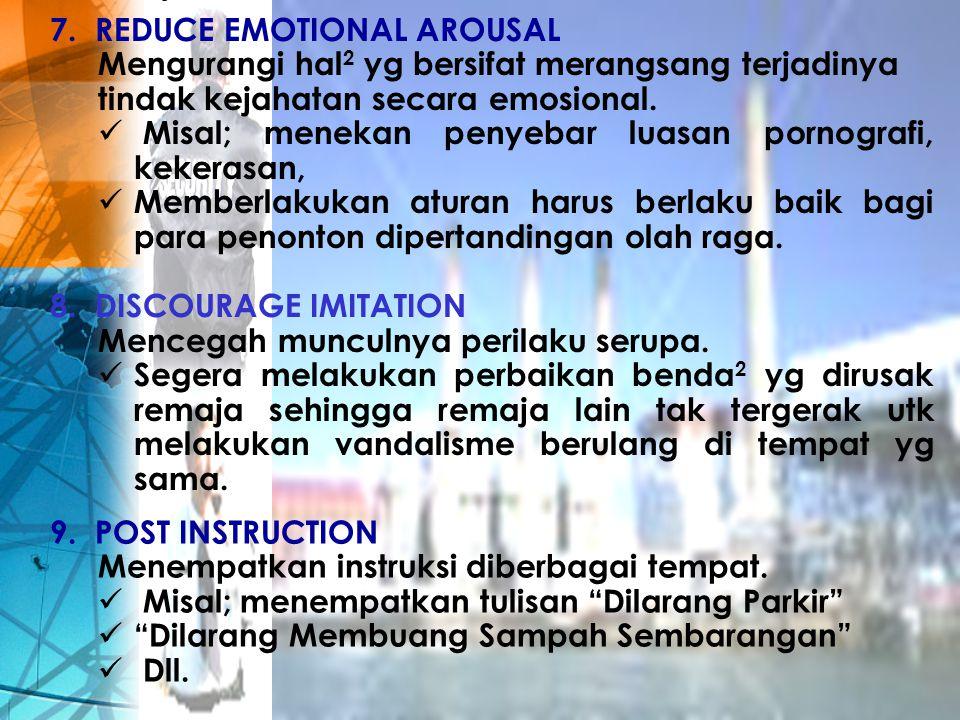 REDUCE EMOTIONAL AROUSAL