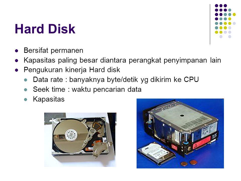 Hard Disk Bersifat permanen