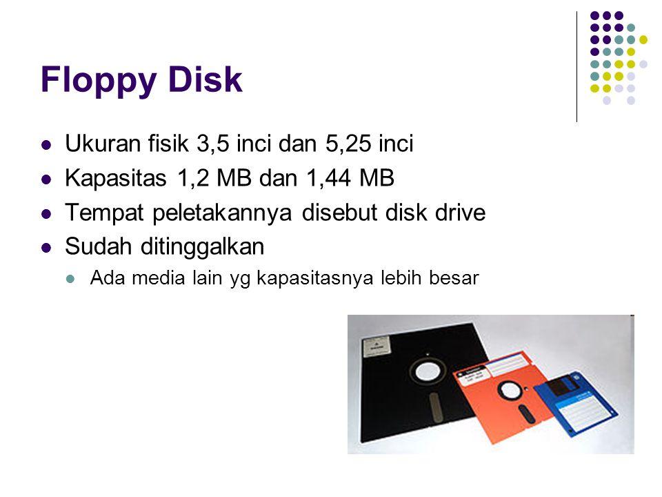 Floppy Disk Ukuran fisik 3,5 inci dan 5,25 inci