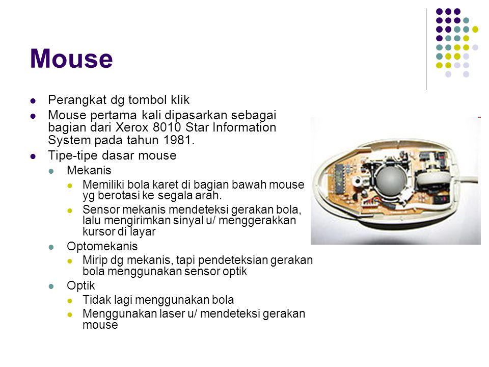 Mouse Perangkat dg tombol klik