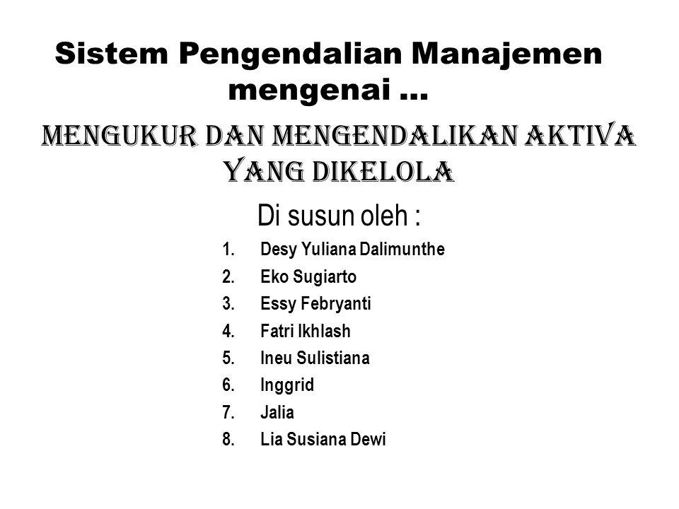 Sistem Pengendalian Manajemen mengenai …