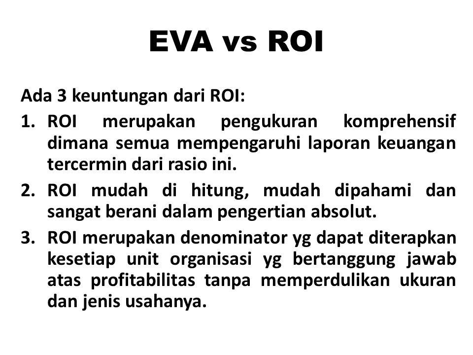 EVA vs ROI Ada 3 keuntungan dari ROI: