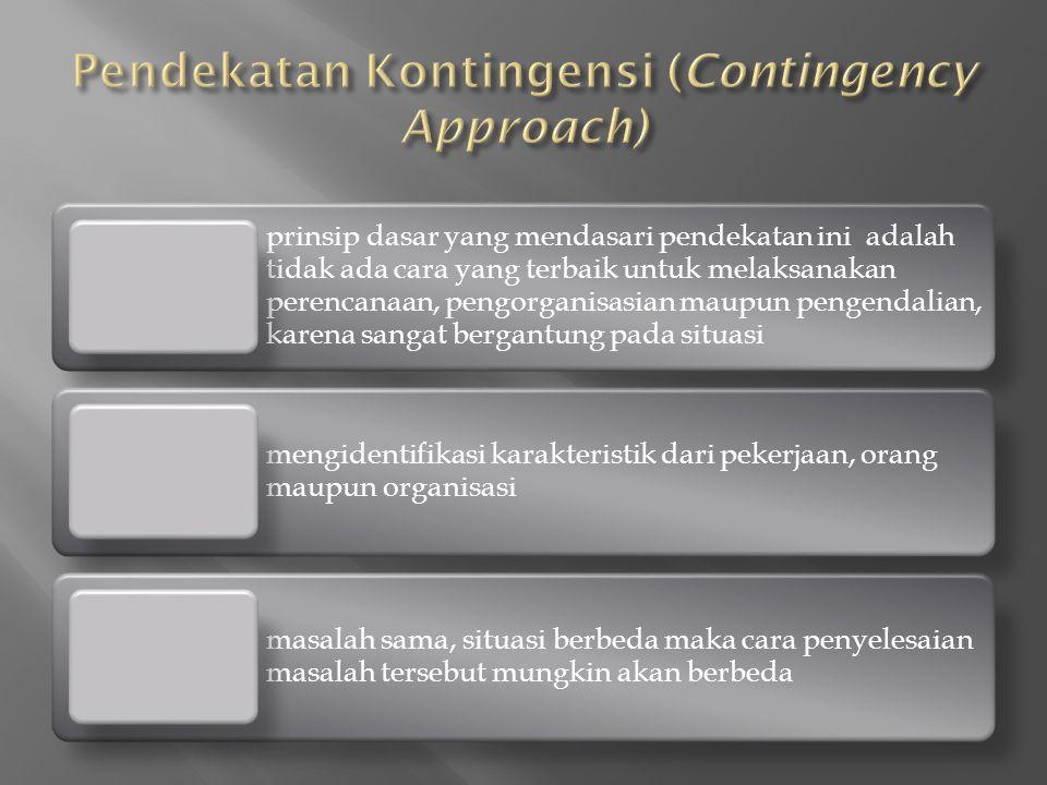 Pendekatan Kontingensi (Contingency Approach)