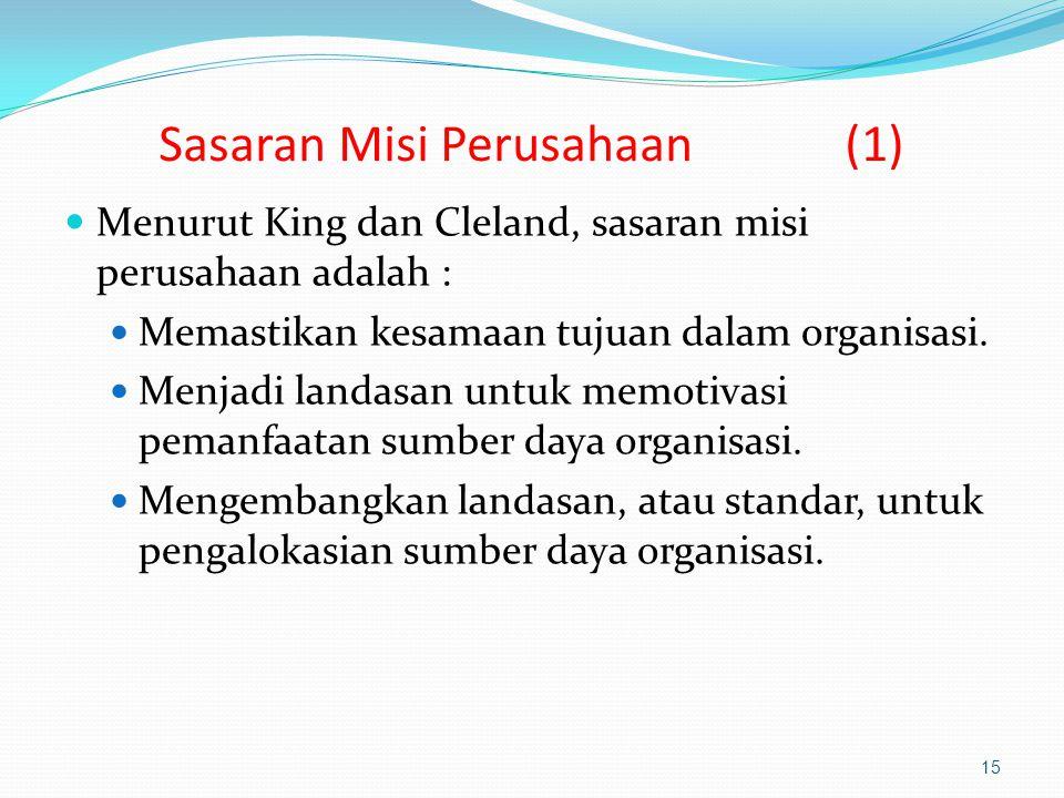 Sasaran Misi Perusahaan (1)