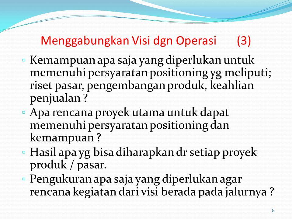 Menggabungkan Visi dgn Operasi (3)