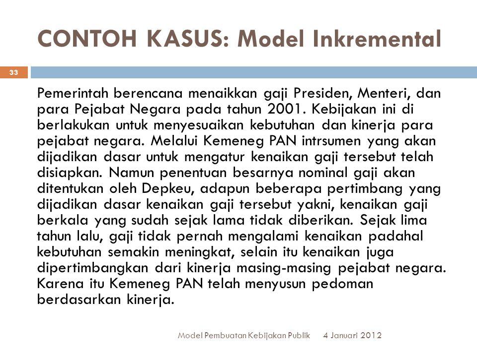 CONTOH KASUS: Model Inkremental