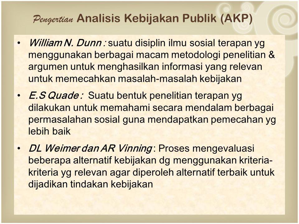 Pengertian Analisis Kebijakan Publik (AKP)