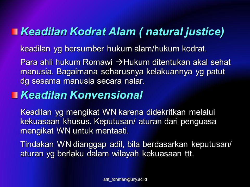 Keadilan Kodrat Alam ( natural justice)