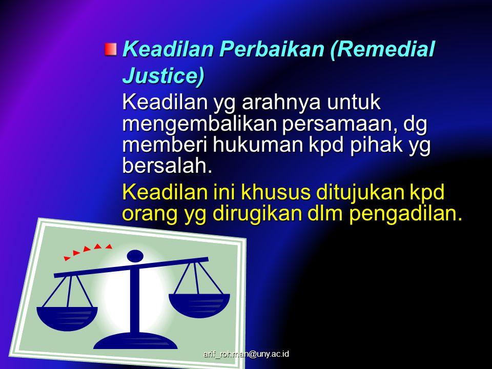 Keadilan Perbaikan (Remedial Justice)