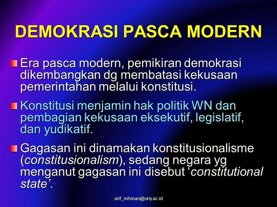 DEMOKRASI PASCA MODERN