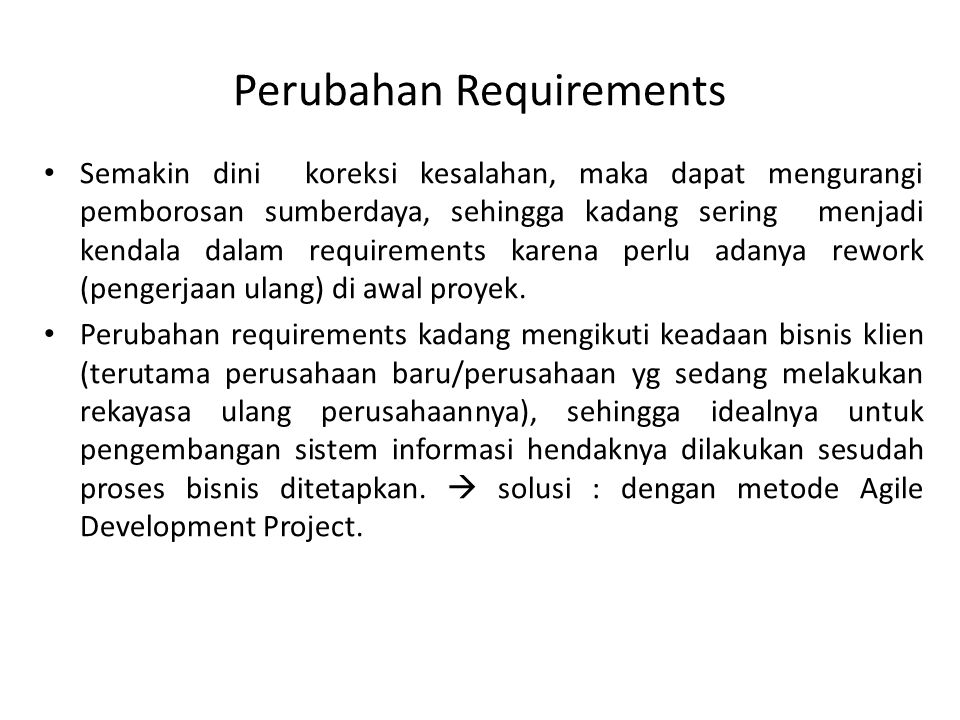 Perubahan Requirements