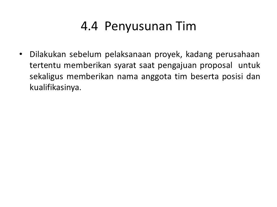 4.4 Penyusunan Tim