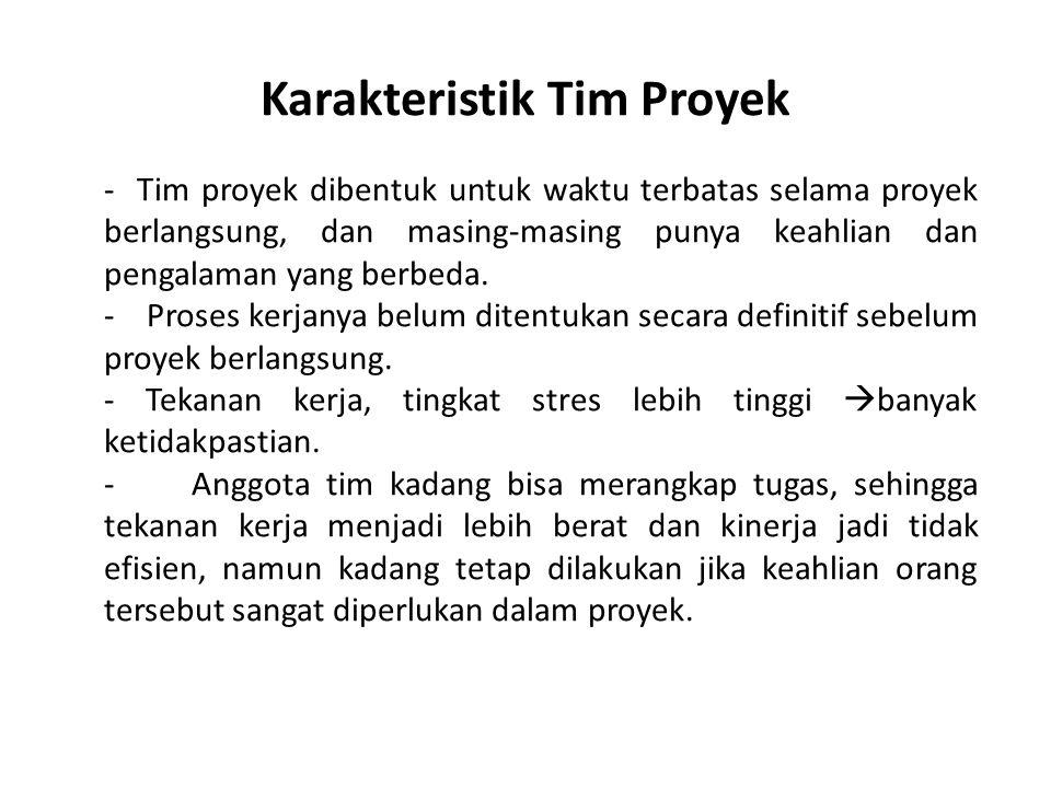 Karakteristik Tim Proyek