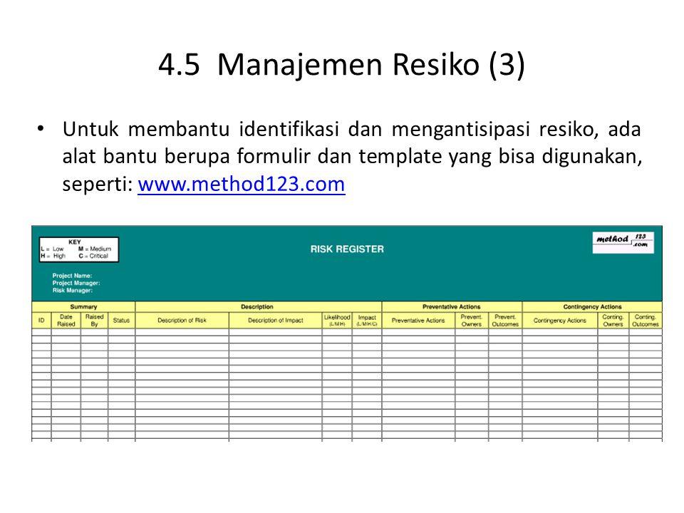 4.5 Manajemen Resiko (3)