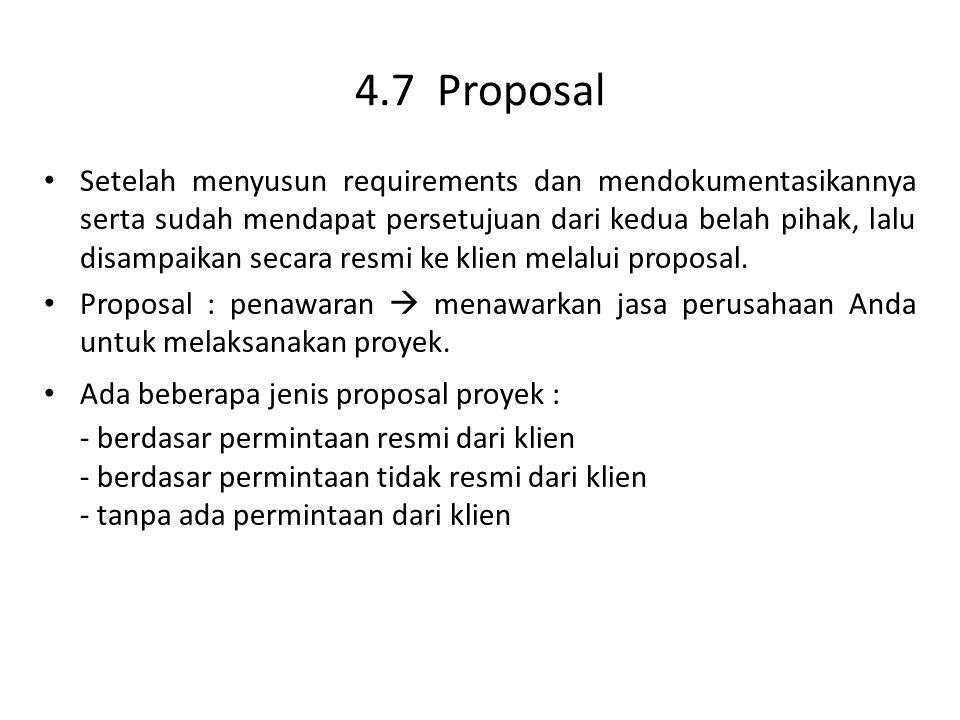 4.7 Proposal
