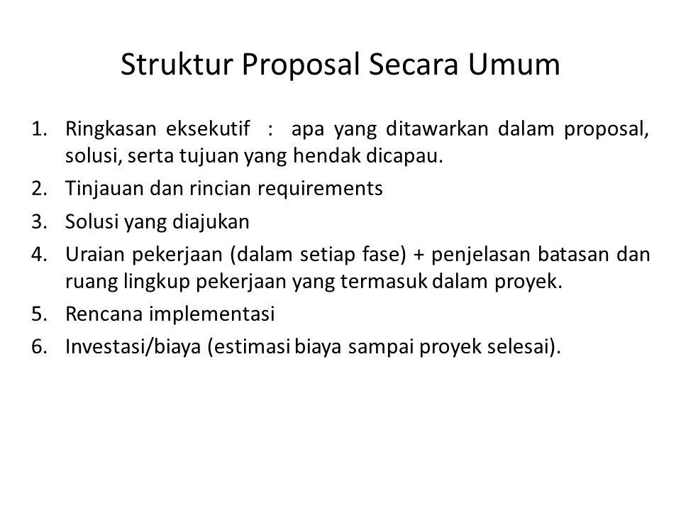 Struktur Proposal Secara Umum