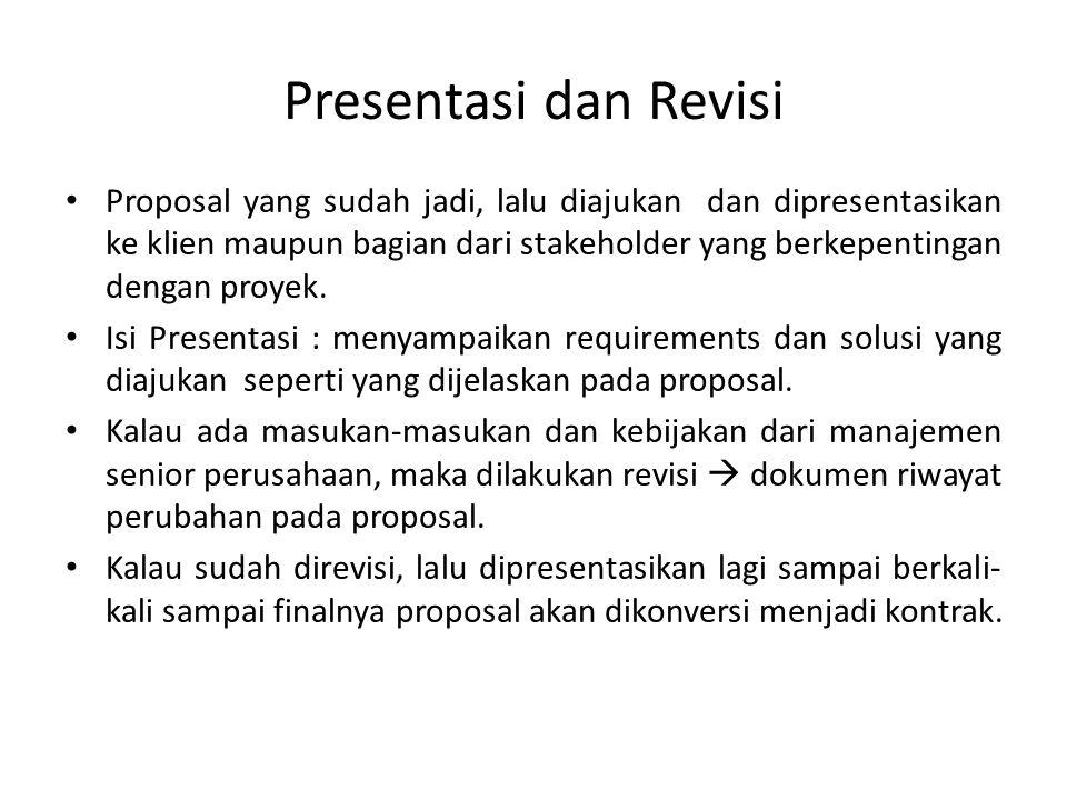 Presentasi dan Revisi
