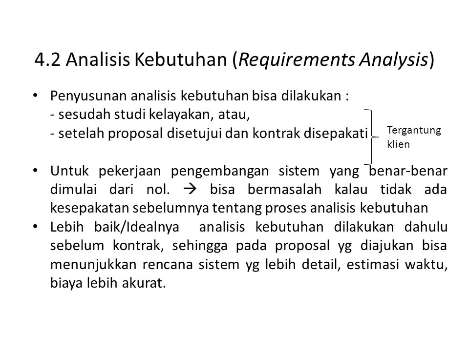 4.2 Analisis Kebutuhan (Requirements Analysis)