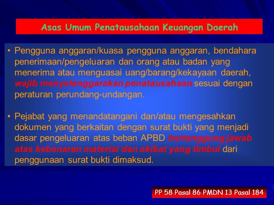 Asas Umum Penatausahaan Keuangan Daerah