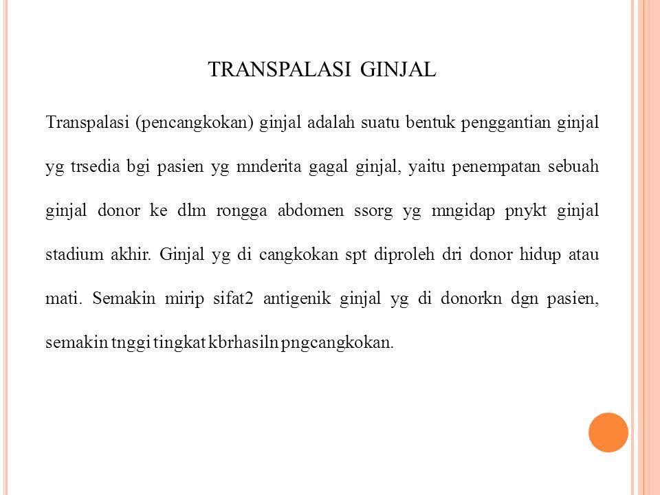 TRANSPALASI GINJAL