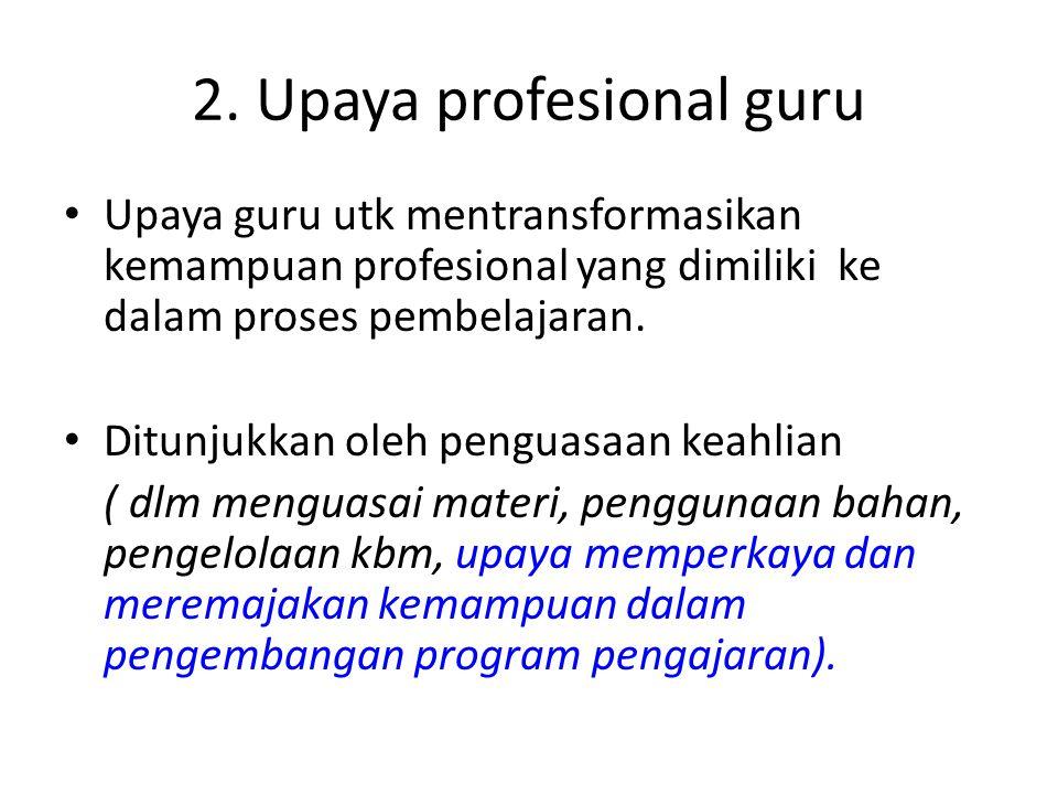 2. Upaya profesional guru