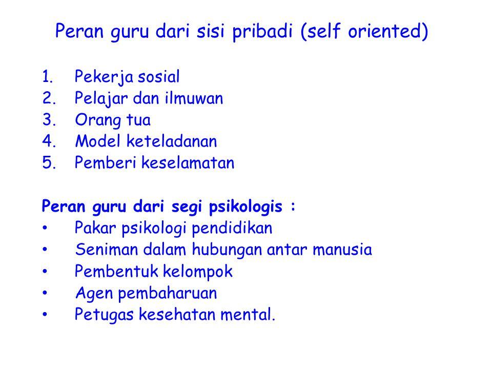 Peran guru dari sisi pribadi (self oriented)