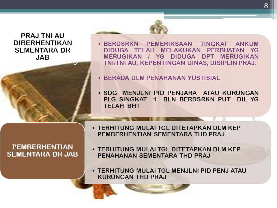 PRAJ TNI AU DIBERHENTIKAN SEMENTARA DR JAB