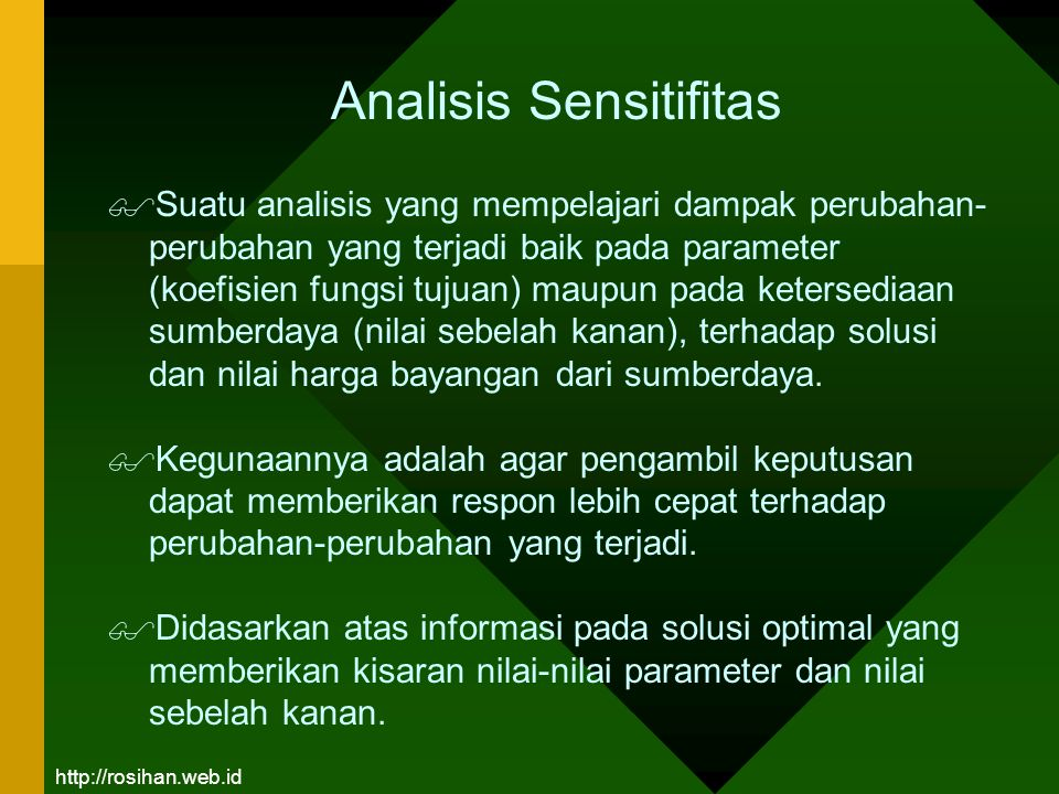 Analisis Sensitifitas