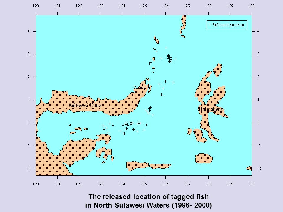 The released location of tagged fish