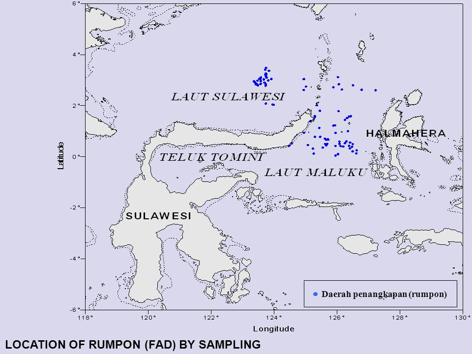 LOCATION OF RUMPON (FAD) BY SAMPLING