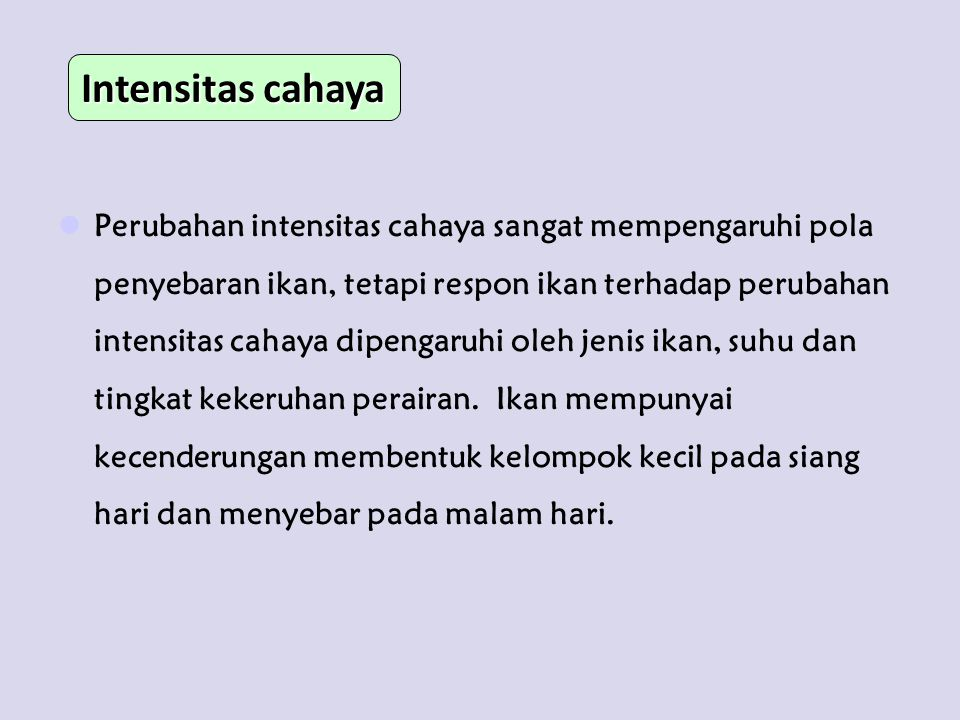 Intensitas cahaya