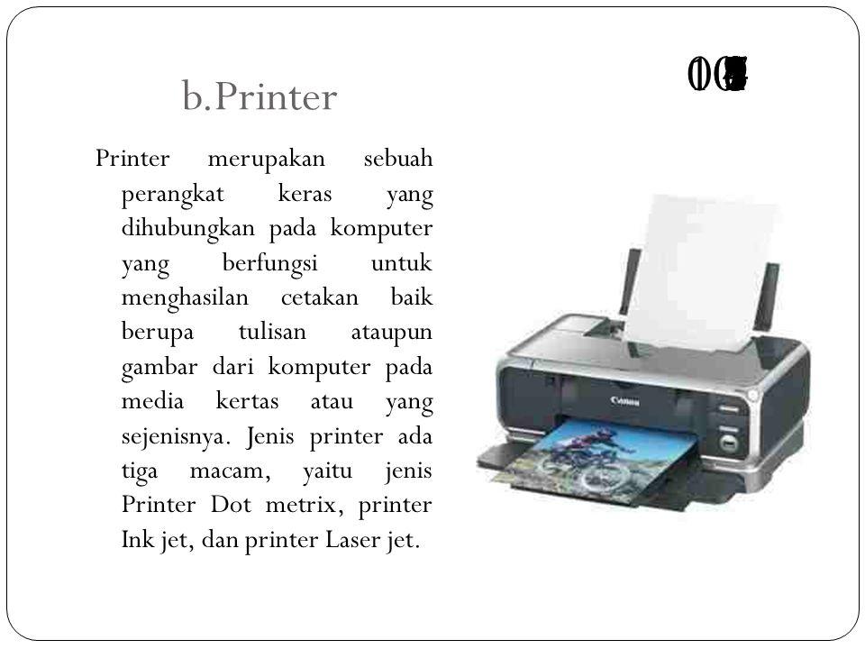 b.Printer 10. 00. 3. 1. 4. 2. 6. 9. 5. 8. 7.
