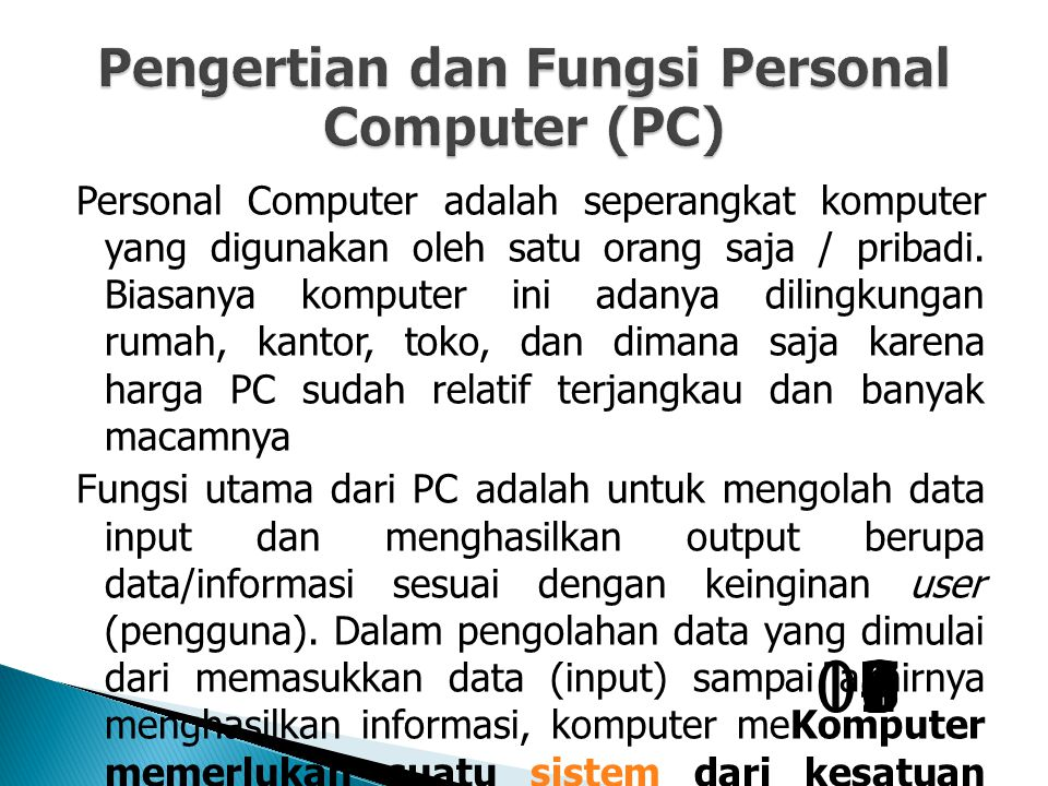 Pengertian dan Fungsi Personal Computer (PC)