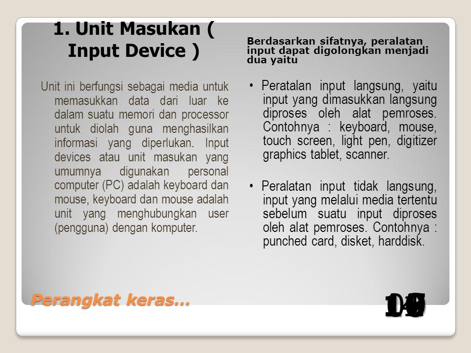 1. Unit Masukan ( Input Device )