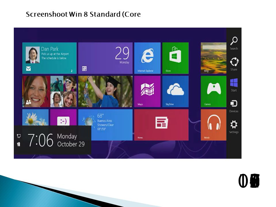 Screenshoot Win 8 Standard (Core